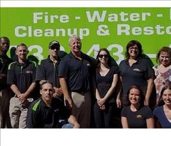Servpro team in front our work vehicle